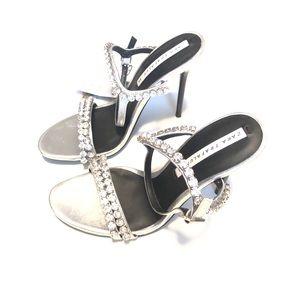 Zara faux diamond heels sz 6 4 in 7362/301